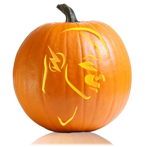 The Flash Pumpkin Stencil