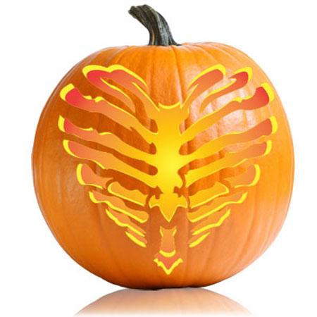Pumpkin carving stencils skeleton heart pumpkin stencil pronofoot35fo Images