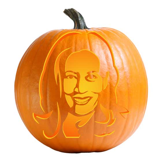Kamala Harris Pumpkin Carving Stencil