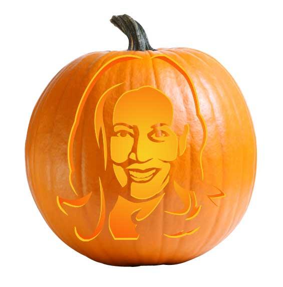 Kamala Harris Pumpkin Carving Stencil