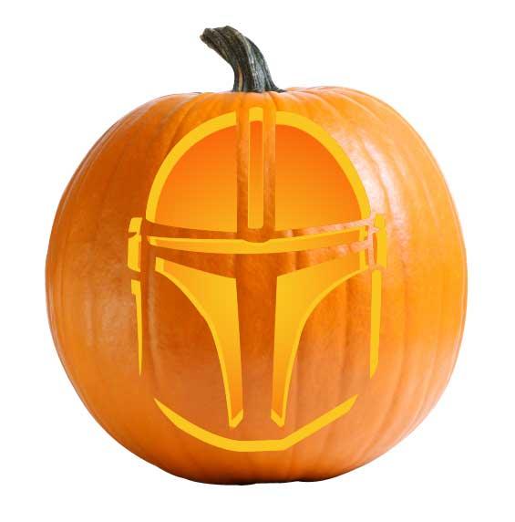 Mandalorian Pumpkin Carving Stencil