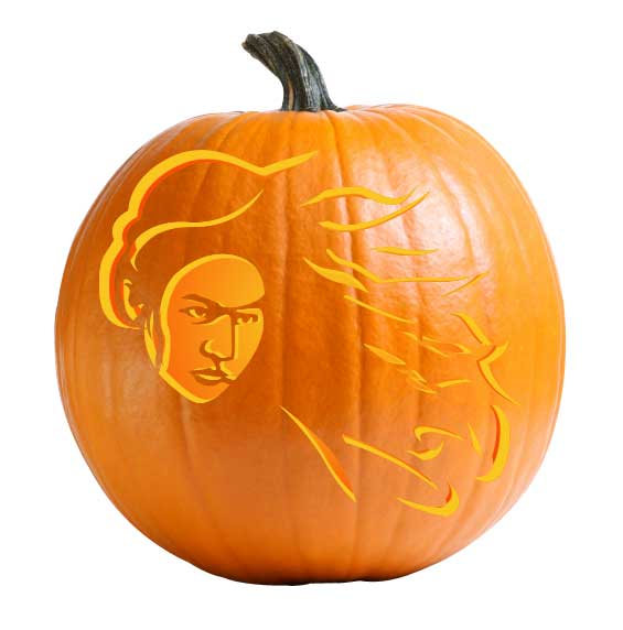 Mulan Pumpkin Carving Stencil