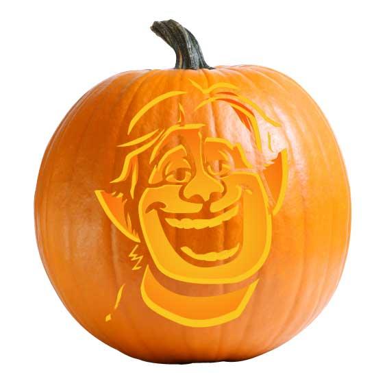 Onward - Barley Pumpkin Carving Stencil