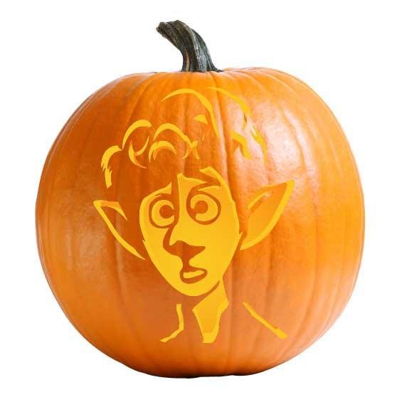 Onward - Ian Pumpkin Carving Stencil