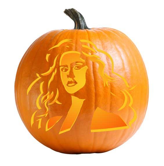 Starlight Pumpkin Carving Stencil