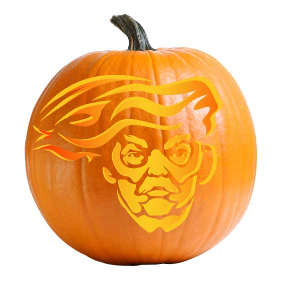 Blowhard Trump Pumpkin Carving Stencil