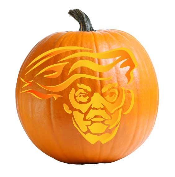 Blowhard Trump Pumpkin Carving Stencil
