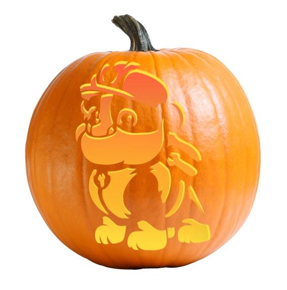 Rubble - Paw Patrol Pumpkin Carving Stencil