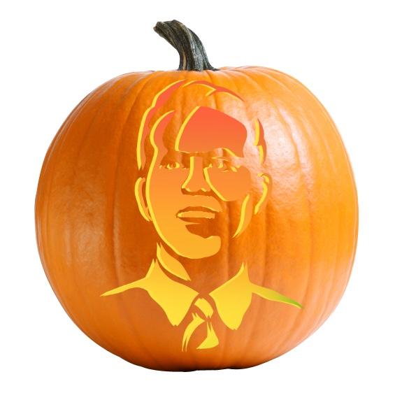 Ryan Reynolds - Free Guy Pumpkin Carving Stencil