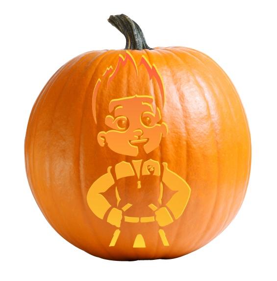 Ryder - Paw Patrol Pumpkin Carving Stencil