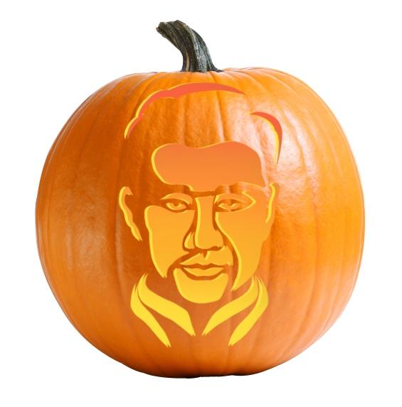 Shang Chi Pumpkin Carving Stencil