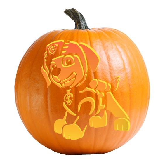 Zuma - Paw Patrol Pumpkin Carving Stencil